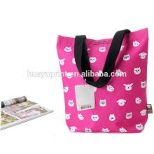 Sac à provisions pliable vente chaude, sacs non tissés pliables et compatibles avec l'environnement et sacs pliés non tissés et sacs pliables non tissés