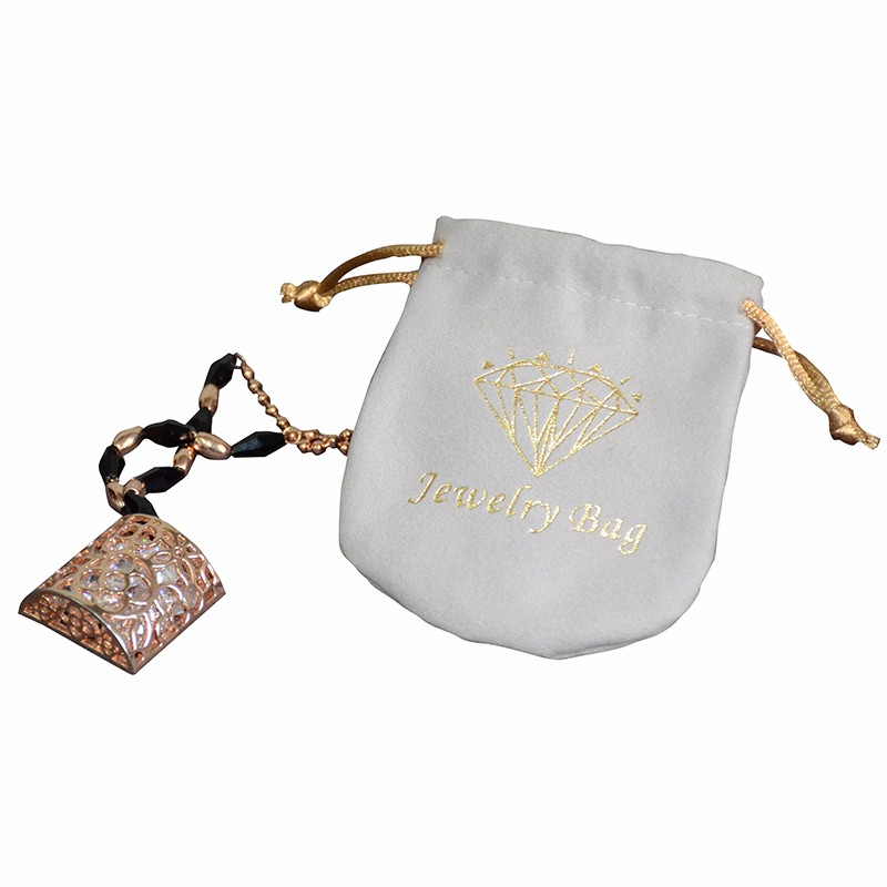 Wholesale Screen Printed Logo Pouch For Jewelry