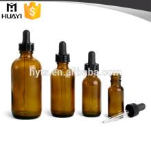 5ml 10ml 15ml 20ml 30ml 50ml 100ml botella de vidrio ámbar con gotero