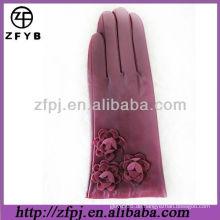 Leder Blume schmücken Handschuhe