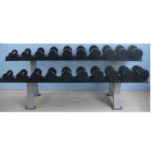 Equipamento de fitness de borracha Dumbbell revestido de alta qualidade