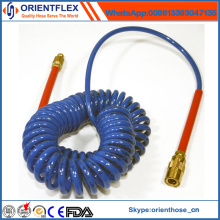 High Temperature Colorful PU Coil Hose with Fittings