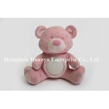 Fábrica de fornecimento bebê noite luz rosa brinquedo urso estrela