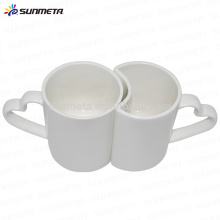 Tasse en céramique de couple de sublimation