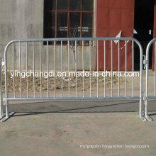 Galvanized Temporary Pedestrian Barrier / Crowd Control Barrier