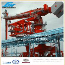 Судовой разгрузчик вертикального винтового типа для обработки и транспортировки цемента