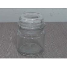 Vidro, vela, jarro, tampa, vidro, votive, vela, frasco