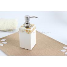 Distributeur de savon liquide à l'or MOP Shell pour les articles de la maison
