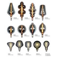 Candelabro de lâmpada de vidro moldado