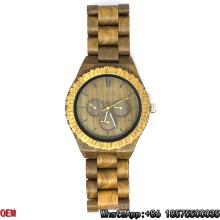 Top-Quality Green Sandalwood Watch Quartz Watches Hl03