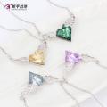 N0329002 Cristais da jóia da forma de Swarovski, colar de coração