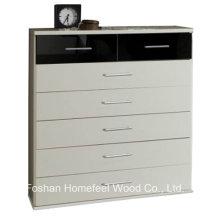 Mobília de quarto de alto brilho 2 + 5 Gabinete de caixa de gaveta (HC33)