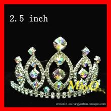 Cuento de belleza tiara crown, AB crystal crown, medidas disponibles