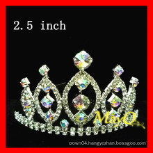 Beauty pageant tiara crown, AB crystal crown, sizes available