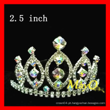 Beleza pageant tiara coroa, AB coroa de cristal, tamanhos disponíveis