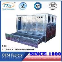custom aluminum hunting truck bed dog boxes