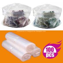 Пластиковые прозрачные плоские полиэтиленовые пакеты с открытым верхом