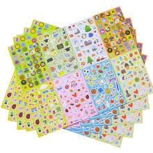 Folhas ajustadas Não-duplicadas da variedade do bloco da etiqueta dos desenhos animados da variedade para crianças