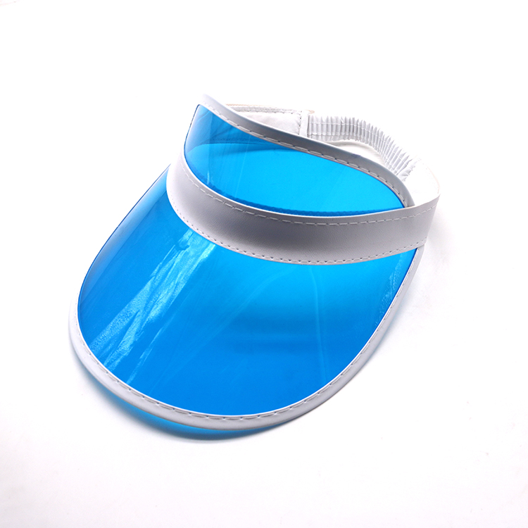 blue transparent pvc visor cap