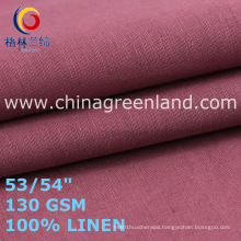 Linen Plain Fabric for Woman Garments Clothes (GLLML467)