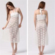 Frauen Multi tragen lange vertuschen Strandkleid (50039-1)
