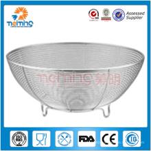 stainless steel mesh fruit basket / kitchen sieve / vegetable storage basket