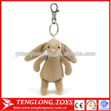 Llavero animal de encargo de la felpa del juguete