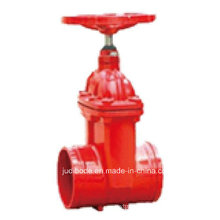 Non Rising Stem Groove End Resilient Seated Gate Valve