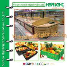 China Gemüse-Holz-Rack