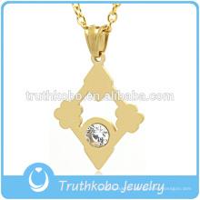 Gros vente chaude suspendus religieux pendentif de mode en or collier Dernière conception colliers de pierres précieuses pendentif