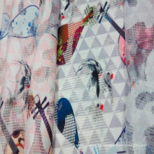 Poliéster de moda impreso ropa red malla / tela de materia textil del hogar