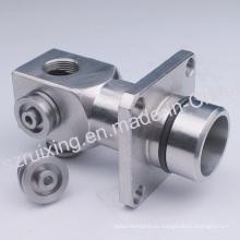 Pieza de precisión mecanizada CNC de cabeza de metal de acero inoxidable