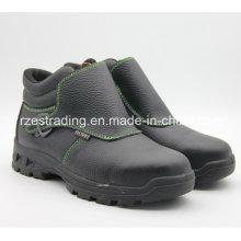 Deslizamento em sapatas de segurança estilo esporte com couro de boa qualidade