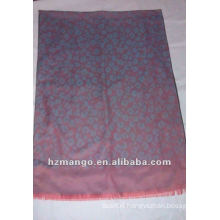 Fashion Jaquard Leopard design Two tone Reversible color pashmina Scarf and Shawl