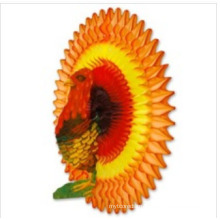 New Design 21 Inch Honeycomb Tissue Paper Turkey Decoration