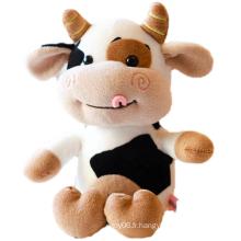 Jouets en peluche mignons de vache en peluche