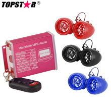 Sistema de alarma impermeable Motocicleta MP3 Audio