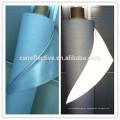 sliver cinza spandex tecido de algodão de poliéster reflexivo para jaqueta