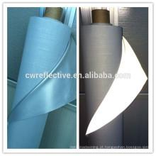 Tecido de colete de segurança reflexivo prata impermeável EN471