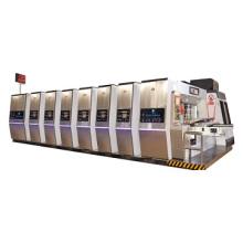 Carton machine manufacturer Vacuum Transfer 4 colors print die cut machine with stacker