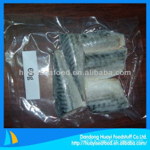 Portion de maquereau emballée sous vide congelée