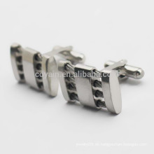 Versorgung Edelstahl Hollow Wire Kabel Manschettenknöpfe für Männer