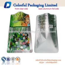 o costume imprimiu o saco de empacotamento plástico selado vácuo vazio do armazenamento do alimento