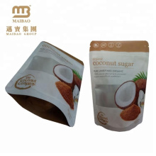 Customized Print Stand Up Doypack Resealable Zipper Top Laminated Poly Bag For Coconut Sugar