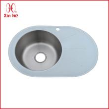 Round Bowl with Board sink kitchen glass