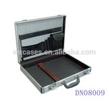 portable silver aluminum laptop case