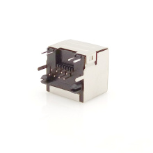 1*1 Port 8P8C PCB RJ45 Jack with 10/100 Base-T Magnetics Module