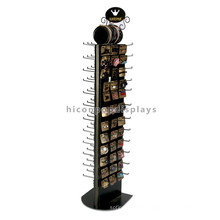 Multi-Function Retail Store Advertising Metal Floor Standing Fashion Hair Accessories Display Stand
