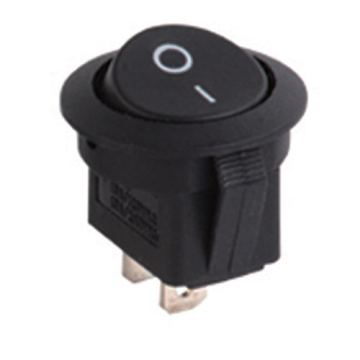 Round Rocker Switch w / blue led 12V