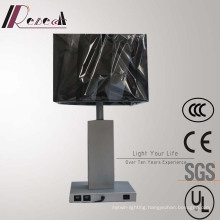 Modern Hotel Decorative Silver Bedside Table Lamp with 2PCS USB